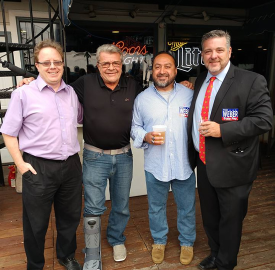 Dick Barr, Arturo Martinez, Steve Malmquist and Jim Walsh