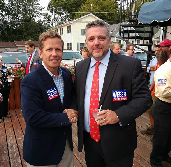 Dick Barr and Congressman Bob Dold