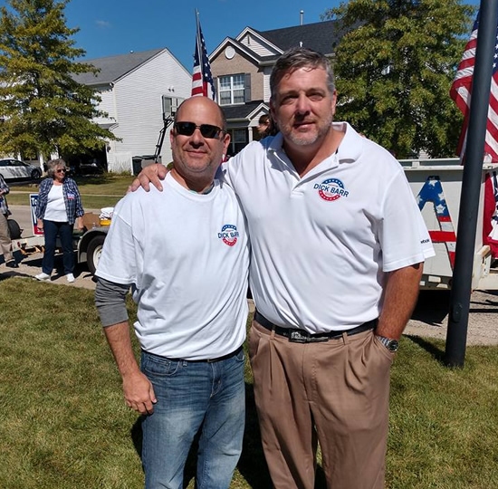 Dick Barr at District 41 School Board Member, Ed Liberman