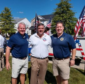 Dick Barr, Judge Chris Strider and States Attorney Mike Nerheim at Round Lake Heights Parade