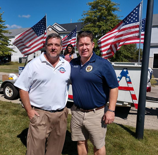 Dick Barr and States Attorney Mike Nerheim at Round Lake Heights Parade