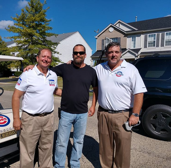 Dick Barr, Tom Weber and Andrew Walker at Round Lake Heights Parade