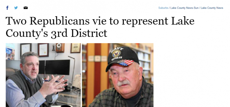 Two Republicans Vie To Represent Lake County's 3rd District